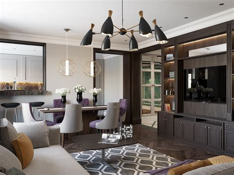 2 beautiful home interiors in deco style