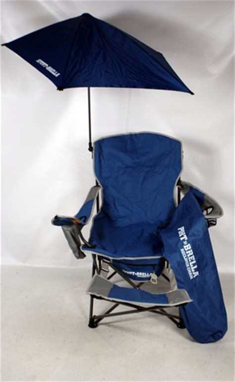 blue sport brella folding sport recliner chair with umbrella