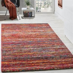 Türkische Teppiche Modern : teppiche modern wohnzimmer teppich spezial melierung rot multicolour meliert teppiche kurzflor ~ Markanthonyermac.com Haus und Dekorationen