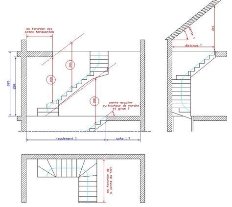 escalier droit ou 1 4 tournant