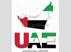 Uae map flag and text illustration