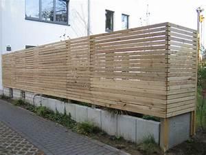 Sichtschutzzaun Bambus Holz : sichtschutz holz selber bauen anleitung ~ Markanthonyermac.com Haus und Dekorationen