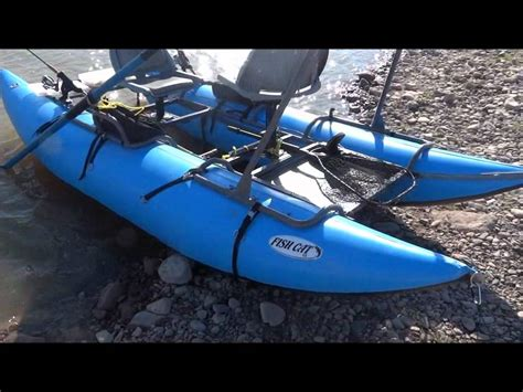 Inflatable Pontoon Boats Youtube by Inflatable Pontoon Boat Outcast Fish Cat 13 Youtube