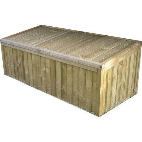 coffre de jardin bois naturelle l 179 x h 70 x p 82 cm leroy merlin