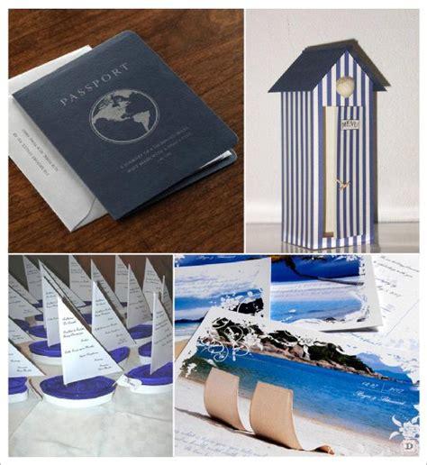 decoration mariage mer menu passeport cabine plage carte postale voilier deco