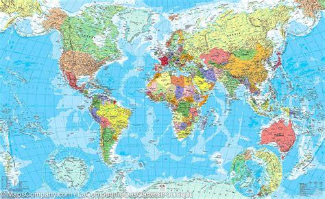 carte murale plastifi 233 du monde poltique ign la compagnie des cartes