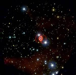 The pictures below are of SN 1987A. It is 160,000 light ...