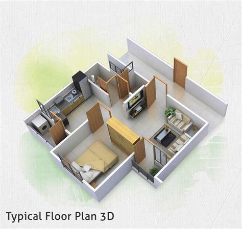 3d floor plan image 2 for the 1 bedroom studio floor plan welcome to bhagyalakshmi