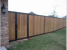 Wood and metal framed fence Ironside San Diego