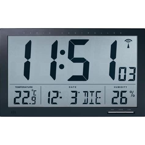 horloge murale radiopilot 233 e noir 370 mm x 230 mm x 30 mm vente horloge murale radiopilot 233 e