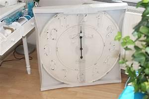 Wanduhr Vintage Weiß : xxl gro e uhr wanduhr banhofsuhr antik wei creme landhaus vintage shabby ebay ~ Markanthonyermac.com Haus und Dekorationen