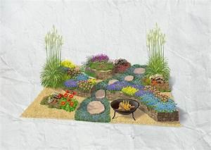 Gestaltung Kleiner Steingarten : steingarten mit trockenmauer obi ~ Markanthonyermac.com Haus und Dekorationen