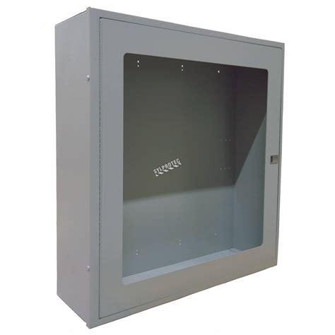 2 semi recessed extinguisher cabinet cad detail