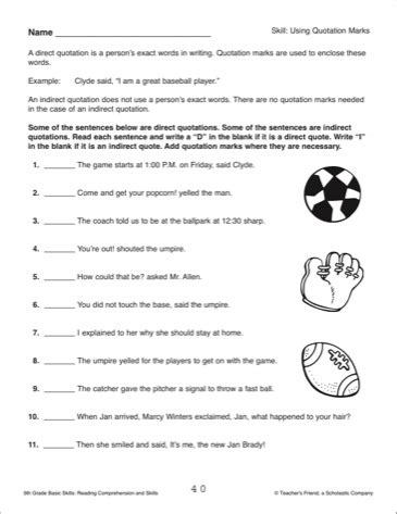 18 Best Images Of Quotation Mark Worksheets For Grade 2  Quotation Marks Worksheets 2nd Grade