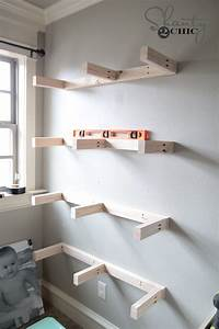 how to build wall shelves DIY Floating Shelves Plans and Tutorial - Shanty 2 Chic