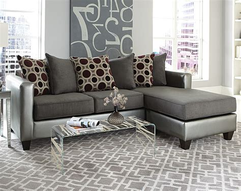 mulberry graphite 2 sectional modern living room columbus by american freight