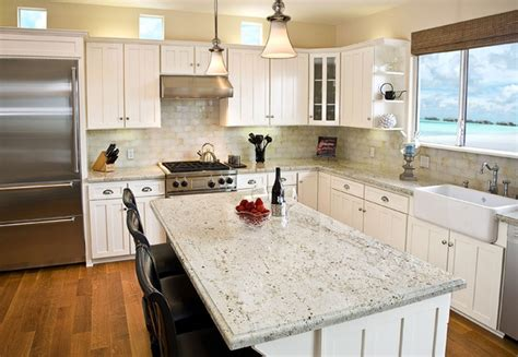 Add Luxury To Your Kitchen With River White Granite Bathroom Sinks Seattle Cabinet Tops Light Fixtures Above Mirror Cabinets Painting A Mirrors For Glass 55 Double Sink Vanity
