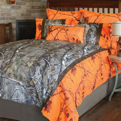 realtree ap and orange blaze ap camo bedding collection