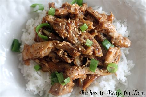 riches to rags by dori crock pot teriyaki chicken and rice