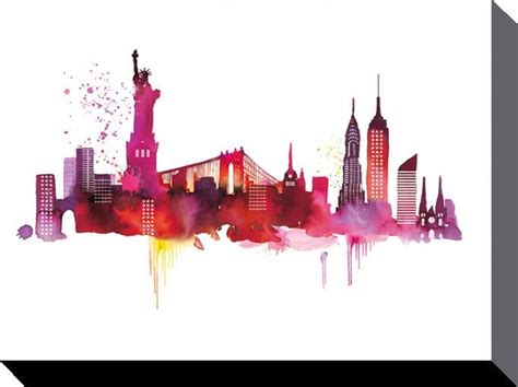 toile imprim 233 e de summer thornton new york skyline acheter toile imprim 233 e de summer thornton