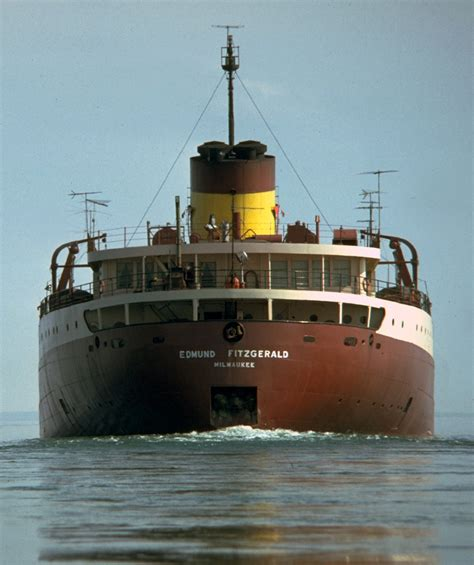 Sinking Of The Ss Edmund Fitzgerald by Edmund Fitzgerald 1975 Michigan In Pictures