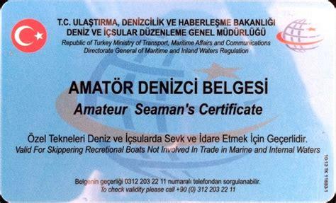 Tekne Kullanma Belgesi by Amat 246 R Denizci Belgesi Ve Kısa Mesafe Telsiz Operat 246 R
