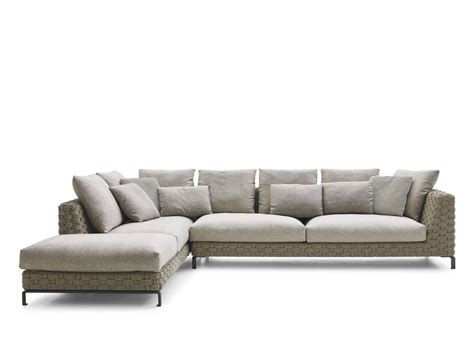 outdoor sofa with chaise longue outdoor collection by b b italia outdoor