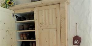 Schuhschrank Fichte Natur : rustikales vorzimmer aus geb rsteter fichte wei ge lt ~ Markanthonyermac.com Haus und Dekorationen