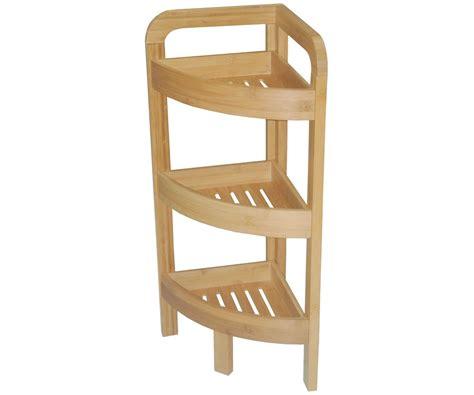 etagere d angle bambou salle de bain 3 niveaux meuble