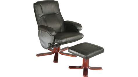 fauteuil relaxation avec pouf cuir noir fauteuil relaxation pas cher