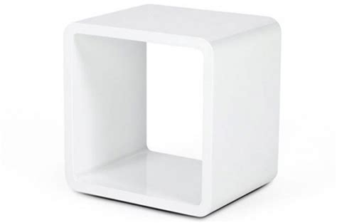 chevet design cube blanc laqu 233 tables de chevets pas cher