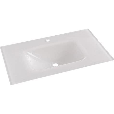 plan vasque simple opale verre tremp 233 81 cm leroy merlin
