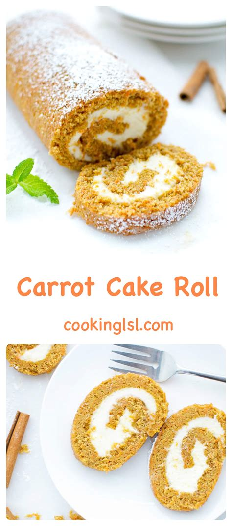 carrot cake roll carrot cake roll with cheese filling