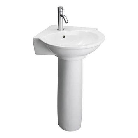 evolution white corner pedestal sink barclay products pedestal bathroom sinks bath