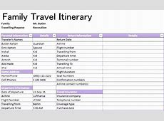 6 Travel Schedule Template Excel ExcelTemplates