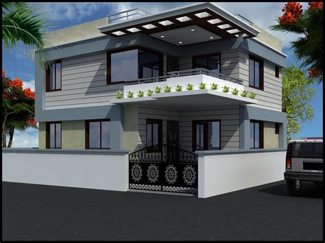 Modern Beautiful Duplex House Design  Home Design