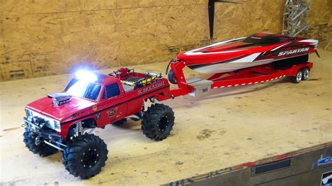 Traxxas Spartan Remote Control Boats For Sale by Rc Adventures Beast 4x4 With A Cormier Boat Trailer