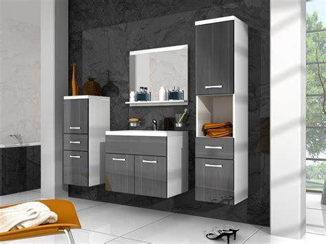 ensemble meubles de salle de bain laqu 233 gris