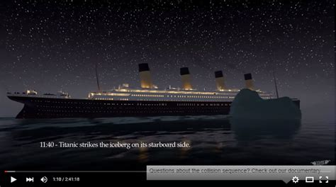 the titanic sink in this gripping animation south