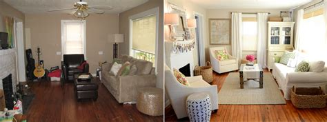 iron twine living room before after