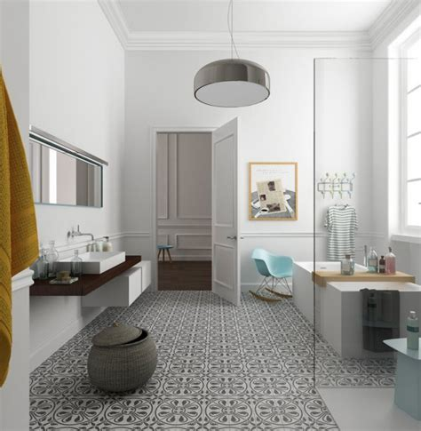 eclectic bathrooms with gorgeous patterned tile floors the interior collective