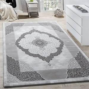 Teppich Wohnzimmer Grau : teppich wohnzimmer klassisch ornament abstrakt design meliert grau anthrazit wohn und ~ Markanthonyermac.com Haus und Dekorationen