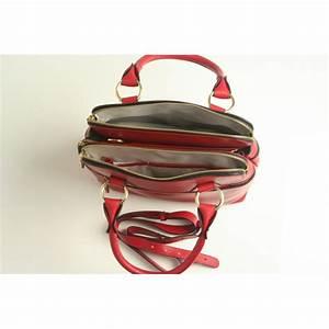 Modalu Pippa mini 3 compartment grab bag in lipstick red ...