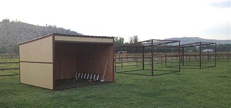 shed kit diy portable loafing shelter
