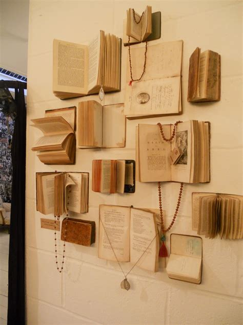 book jewelry display at the portobello vintage market