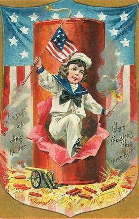 Free 4th Of July Vintage Postcards  Vintage Holiday Crafts