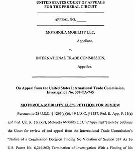 FOSS Patents: Google appeals dismissal of Motorola's ITC ...
