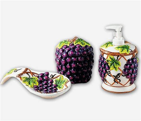 Grape Accessories For Kitchen by Grape Kitchen Decor Theme Ceramics Wine Grape Tuscan