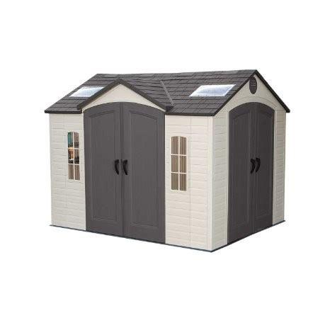 lifetime 10 x 8 dual entrance plastic shed