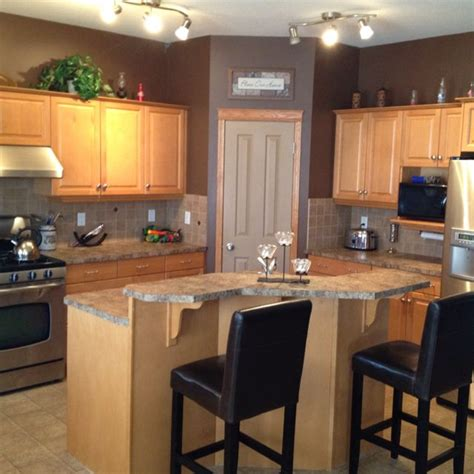 maple kitchen cabinets and wall color ideas for our home paint colors cabinets